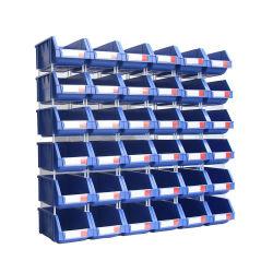 piezas de repuesto de almacén de piezas pequeñas de montaje en pared anaqueles de plástico