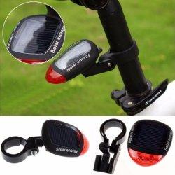 Bicicleta recargable Solar Powered Seguridad LED luz trasera de la luz trasera de bicicletas