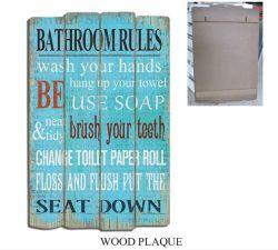 Sinal de MDF Vintage sinais de madeira a impressão de arte de parede de madeira com decoração do Word