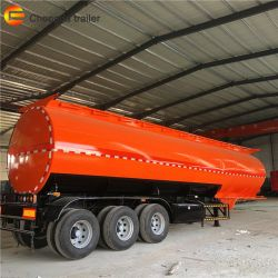 Eje 3 Cbm 45 35000 L Semi-Trailer camión tanque de aceite para el transporte de petróleo crudo