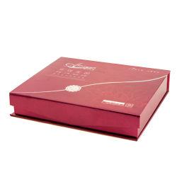 Cosmética personalizada de alta calidad de papel cartón rojo Caja de regalo