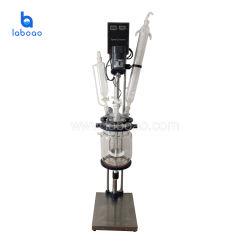 1-5L het miniChemische product die van het Laboratorium de Beklede Reactor van het Glas mengen