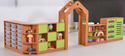 الأطفال تخزين الألعاب أثاث من خشب خزانة، أثاث يجمع الأطفال بين خزانة، أثاث العناية النهارية قبل المدرسة، أثاث خشب الزان، أثاث منزل الطفل