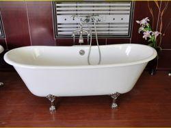 Doppia vasca da bagno del ghisa di Clawfoot del pistone/vasche di bagno indipendenti/vasche calde utilizzate comuni