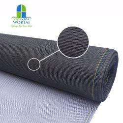 18*16 gris de fibra de vidrio blanco y negro de malla de mosquitos insecto de fibra de vidrio Fibra de vidrio de la pantalla de pantalla de cristal de mosquitos de fibra de vidrio recubierto de PVC Pantalla de cristal Invisible