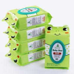 Soins de la peau naturelle organique Cheap lingettes humides, organiques biodégradables lingette humide pour bébé
