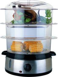 Oval eléctrico de 3 capas de vapor de la comida Cocina con temporizador de 60