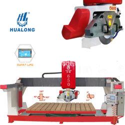 Maquinaria Hualong Hlsq-650 Puente totalmente automática Máquina de corte de piedra de granito y mármol de aserrado