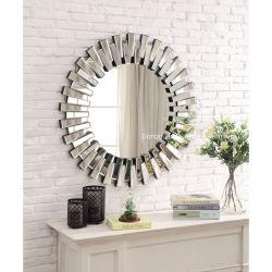 Hogar y el Hotel Metal redondo Sunburst decorativos de cristal de espejo de pared