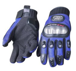 Barretta piena dei guanti della motocicletta che corre i guanti per il motociclo