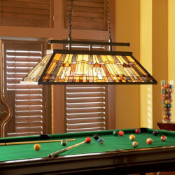 Tiffany Luzes de Bilhar Vitrais Travando Bilhar Lamp Tb1005