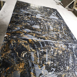 Большой прозрачный черный мрамор искусственного камня специалисты Alabaster для монтажа на стену декоры