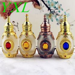 bottiglia di olio essenziale di vetro vuota antica della bottiglia di profumo 15ml con il regalo cosmetico della decorazione del mestiere del contenitore del contagoccia di vetro