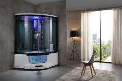 2019 새로운 디자인 강화 유리 스팀 사우나 샤워 룸 자쿠지와 다채로운 조명 (Y801B)