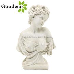 statue Goodeco 고품질 수지 여신 흉상 숙녀는, 옥외 조각품을 파열시킨다