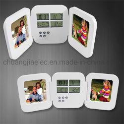 Привлекательные складные пластиковые фоторамки часы с таймером для домашних хозяйств