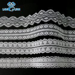merletto francese elegante nuziale lavorato a maglia nylon anelastico di 3cm