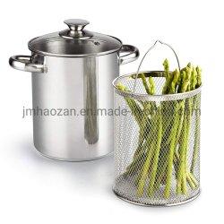 4 cuarto de galón de espárragos vegetal 3 piezas de acero inoxidable olla vaporera