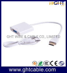 HDMI® haute qualité d'alimentation de l'usine (M) à (F) Convertisseur VGA avec audio