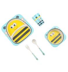 Kundenspezifischer BPA frei mehrfachverwendbares Eco Biobambusfaser-Kind-Tafelgeschirr-gesetzter Küchenbedarf