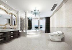 L'hôtel Sheraton utilisé la salle de bains jeu de tuiles Surface brillante carreaux en porcelaine