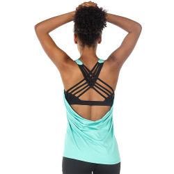 Parte superiore incorporata di yoga della maglia del reggiseno degli abiti sportivi di esercitazione delle donne
