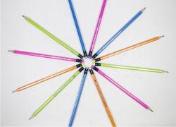 消しゴムが付いている昇進のHbの鉛筆