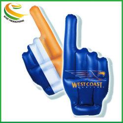 PE 膨張可能な手のひら、プラスチックフィンガー巨大な応援手