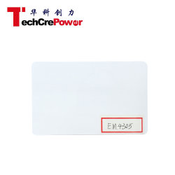 Em4305 PVC blanc carte RFID de proximité 125 kHz