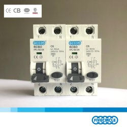 Qualität elektronisches RCBO 2p 1p+N 6A 63A China zur Sicherung