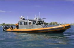 Aqualand 40FT 12m Boot van de Motor van het Aluminium van de Snelheid van de Rib van de Patrouille van de Cabine van het Huis van het Aluminium Militaire Proef (CABINE AQL395)
