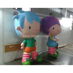 Ca147 insufláveis gigantes Lucky Girl e Boy mascote cartoon para publicidade de balão