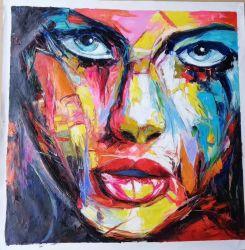 Francoise Nielly Portrait-Paletten-Messer-Portrait-Ölgemälde auf Segeltuch