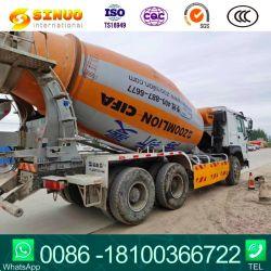 이용된 시멘트 믹서 트럭 12m3 HOWO 6*4 초침 중 콘크리트 믹서 12 Cbm 트럭 Sinotruk 무거운 디젤 엔진 부피 측정 유형 구체 믹서