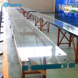 Panel de vidrio laminado transparente multicapa
