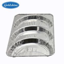 Bac d'aluminium casseroles contenant de la plaque pour l'alimentation (Z3614)
