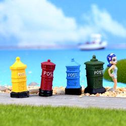 小型Postboxのポストの置物の妖精のミニチュア景色の庭の樹脂