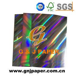 La nourriture de haute qualité d'emballage du papier métallisé avec hologramme bord de plastification