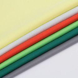 Novidade CVC 62%C38%T urdidura costela de malha de algodão tecido listrado para T-shirt Dress