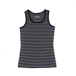 Parte superiore a strisce della maglietta giro collo delle lane merino delle donne merino australiane su ordine