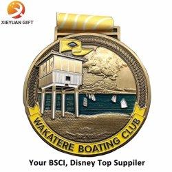Medaille Für Kupferschwimmen mit Gravurlogo
