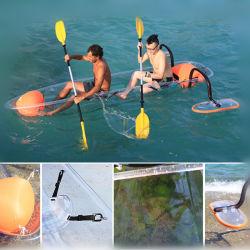 100% Transparente Material PC Barco Navio de pesca de fundo transparente caiaque canoa de plástico