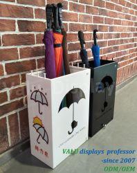 Porte-parapluie avec plateau égouttoir amovibles et 8 crochets, Métallurgie industrielle Stand Outdoor Indoor, grand parapluie Rack permanent pour bureau à domicile (noir)