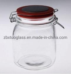Luftdichte Glaskanister-Glasgläser mit keramischer Deckel-Kappe für Nahrungsmittelspeicher