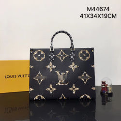각종 크기 짜맞춘 글자 핸드백 가죽 LV# 부대의 까만 카키색 표범과 얼룩말 패턴