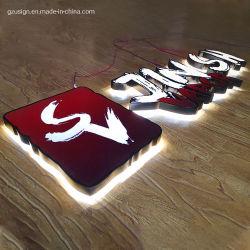Scheda acrilica su ordinazione del segno della lettera Backlit LED 3D del materiale