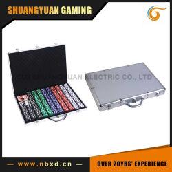 1000pcs Poker Chip Set dans un boîtier en aluminium