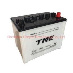 12V 50Ah batería de coche de carga seca para el coche/camión/triciclo Solar/