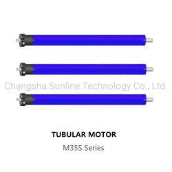 M35s Serie AC motor tubular de 10nm para pantalla de proyección, persianas de rodillo