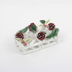 Fabbrica Commercio all'ingrosso legno Carving Antiquariato legno regalo ornamenti di legno di Natale